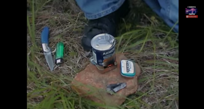 Build A Pocket Stove Out Of An Altoids Can