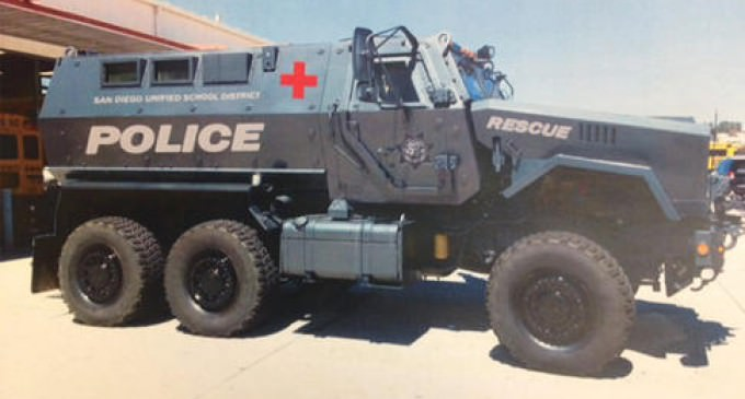 School Police Now Being Militarized With War Machines And Equipment