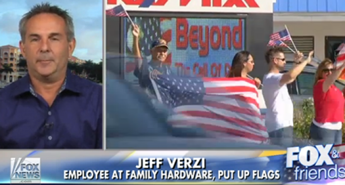 City Orders Hardware Store To Remove American Flags