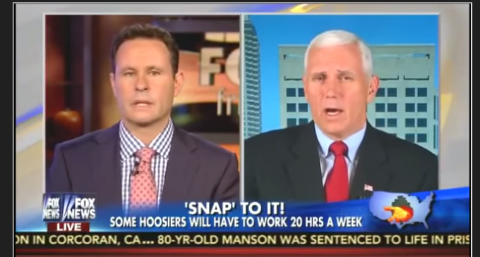 """Indiana Gov. Mike Pence: """"Able Bodied"""" Food Stamp Recipients Must Work"""
