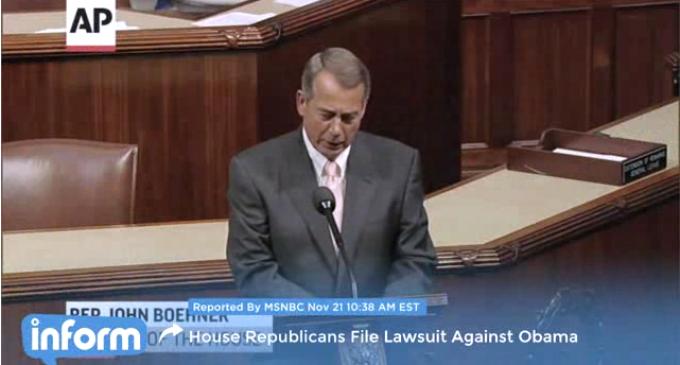 Boehner Files Long-Delayed Lawsuit Over Obamacare Crimes