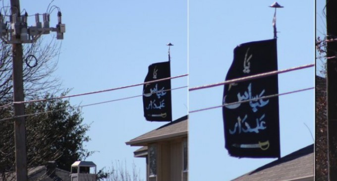 Islamic Flag at Flying At Lewisville, TX Home Causes Community Backlash