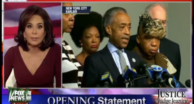 Judge Jeanine Pirro Chastises NYC Mayor Bill de Blasio, Holder, Sharpton and Obama For Creating Hatred Towards Police