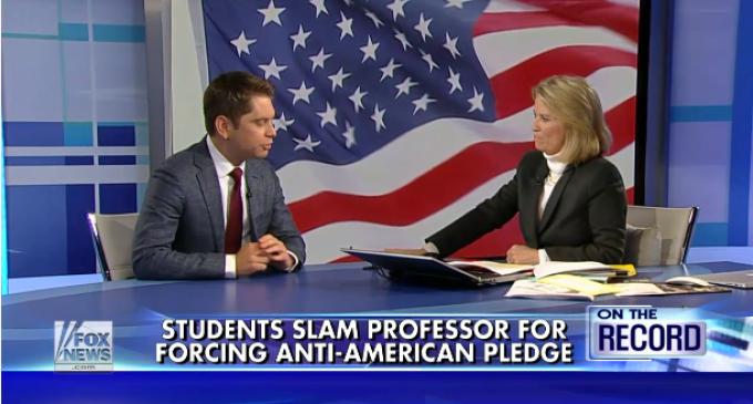 College Professor Forces Students To Recite Anti-American 'Pledge Of Allegiance'