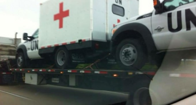 Report: United Nations Medical Vehicles Spotted In Mississippi