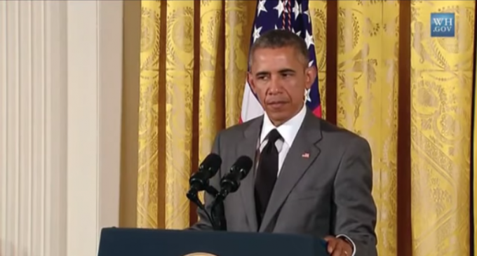 """Obama: """"I will never engage in a politics in which I'm trying to…."""""""