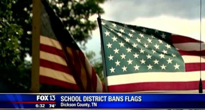 Tennessee School Moves to Ban All Flags From Campus…Sort of