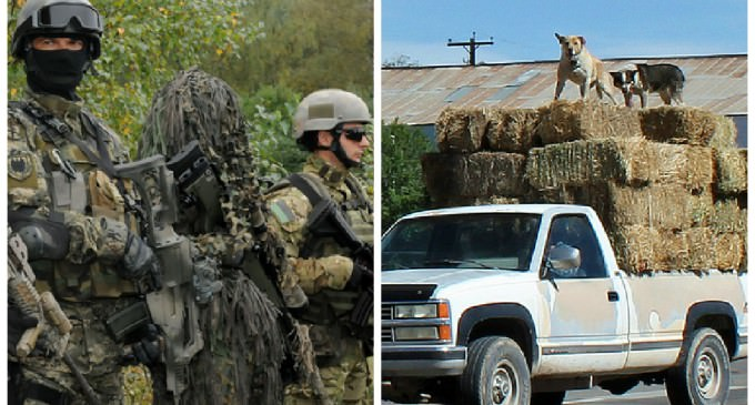 Special Ops Infiltrates California Town With Rental and Hay Trucks, 'Mission Accomplished'