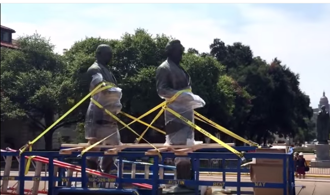 Statues of Jefferson Davis and Woodrow Wilson Removed, Deemed Racist