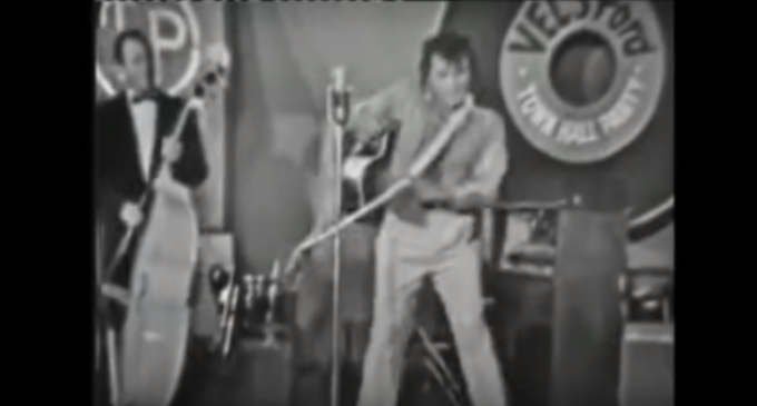 Rare Video Surfaces: Johnny Cash Imitating Elvis Presley
