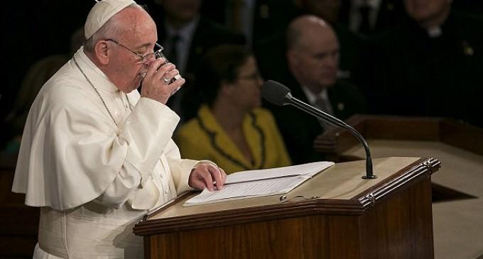 Democrat Steals Pope's Leftover Water
