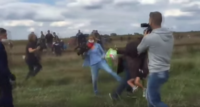 Hungarian Video Journalist Fired For Attacking Refugees