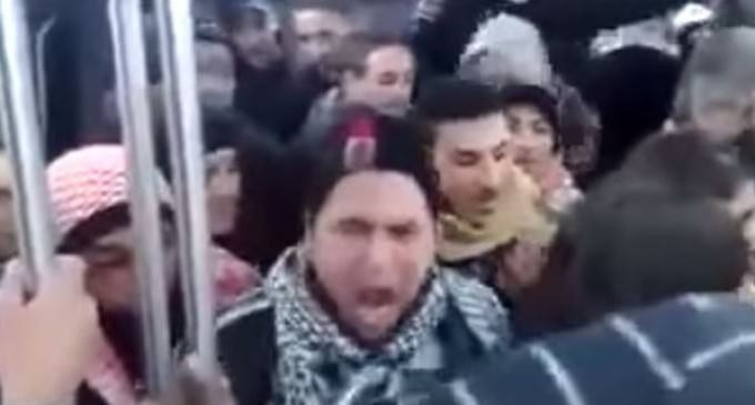 """Refugees"" Chanting ""Allahu Akbar"" and ""F**k you"", Throws Excrement"