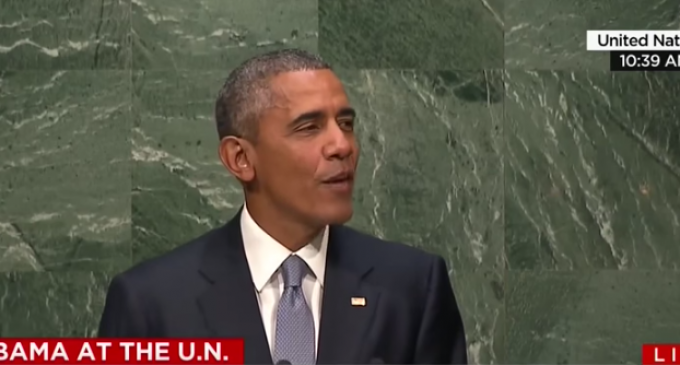 """Freudian Smile? Obama Chuckles """"Death to America"""" at UN"""