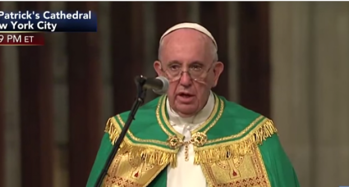 Pope Francis: Jesus Failed on the Cross
