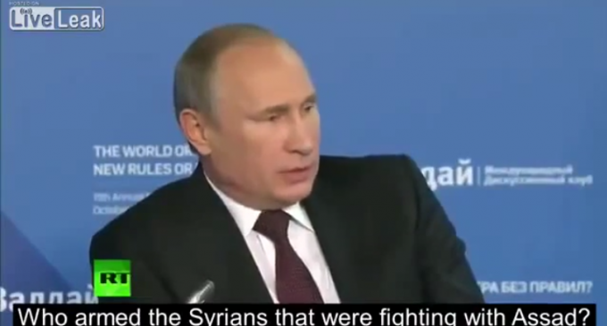 Putin Blasts Obama For Arming And Paying Mercenaries Who Become ISIS Fighters