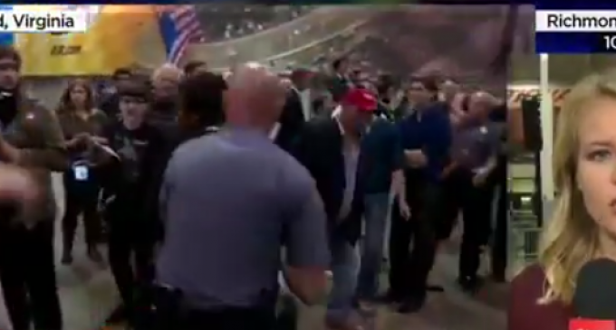 Trump Rally Rousts Protesters Who Become Physical