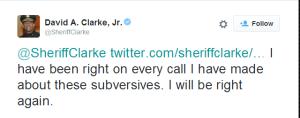 clarke-tweet isis blm 2