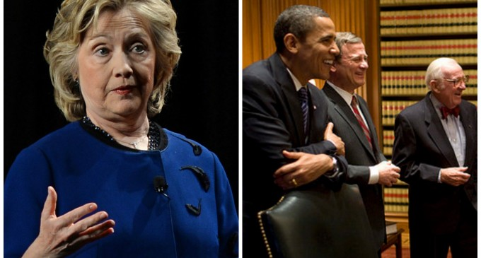 """Hillary Clinton May Appoint Obama to SCOTUS if Elected President, Calls it """"a great idea"""""""