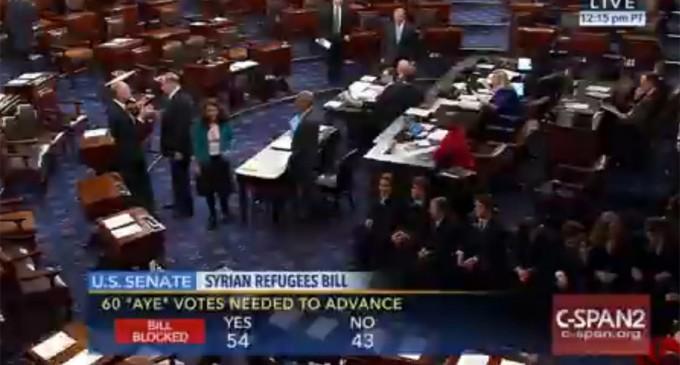 Senate Blocks Bill Mandating Increased Security Checks on Syrian Refugees