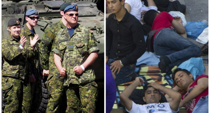 Canada Kicks Soldiers Out of Their Homes for Muslim Migrants