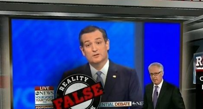 """CNN's Phony Left-wing """"Fact-checker"""" Lies About Ted Cruz"""