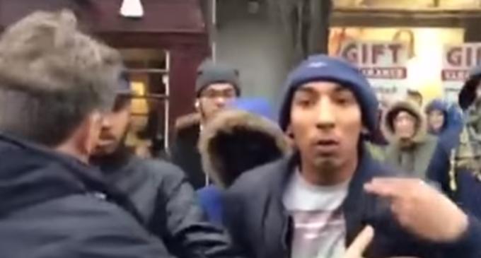 Aggressive Migrant Attacks Activist