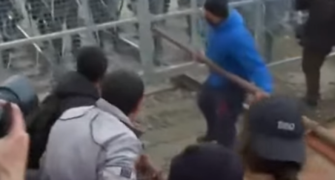 Migrants Use Battering Ram To Bust Through Border Fence, Attack Police