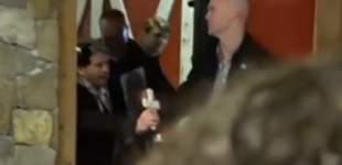 Protesters Try To Perform Exorcism On Ted Cruz