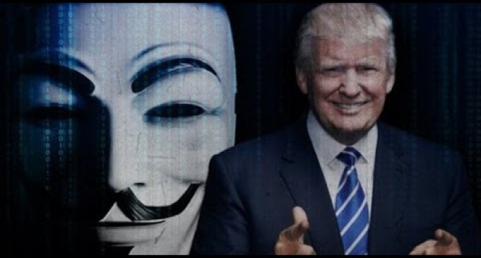 Anonymous Declares Trump an Enemy of the Constitution, Publishes His SS and Cell Numbers