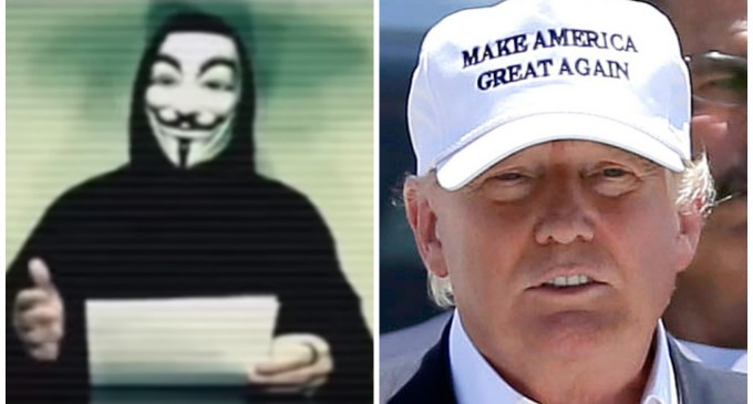 """Anonymous Declares """"Total War"""" On Donald Trump, Vows To Dismantle Campaign"""