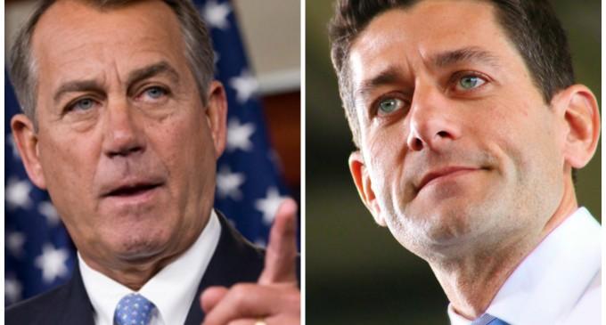 John Boehner backs Paul Ryan for President