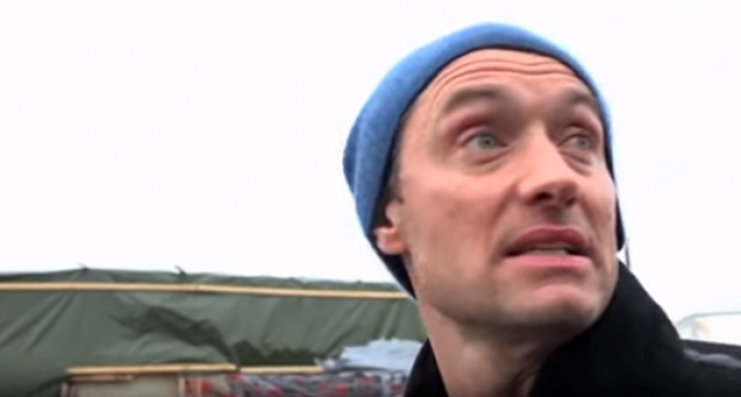 Jude Law Visits Migrant Camp, Crew Gets Assaulted