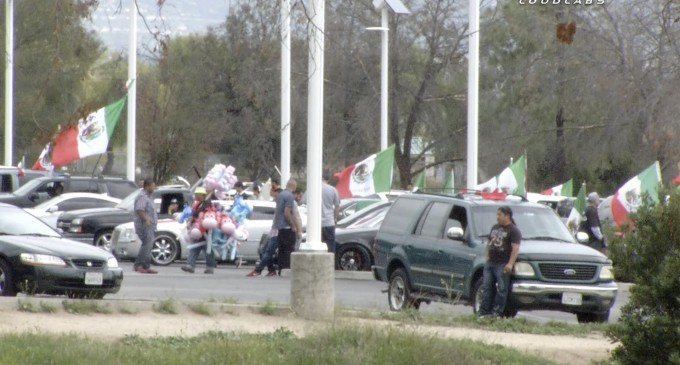 Mexican Flags Hoisted in Celebration of Trump Shut Down