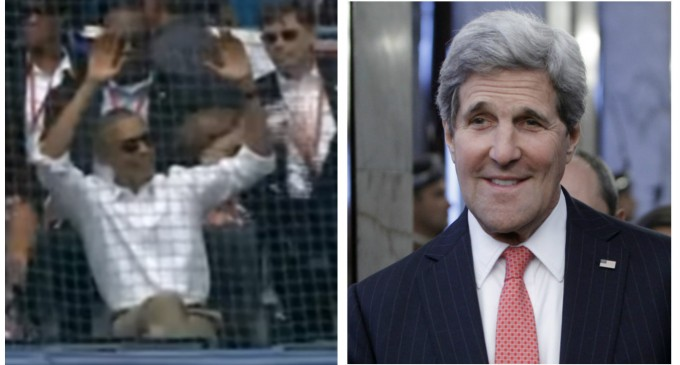 Obama, Kerry Palling Around with Communists While Brussels Under Attack