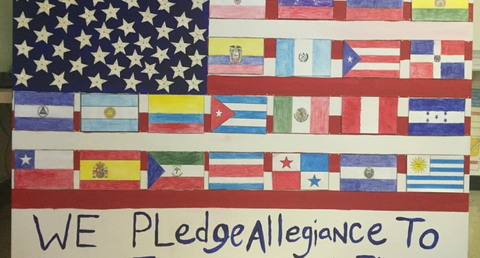 Outrage After Students Taught To Pledge Allegiance To An International Flag