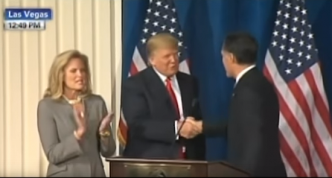 """Romney Calls Trump """"Phony"""" Even As Video Shows Him Praising The Donald"""