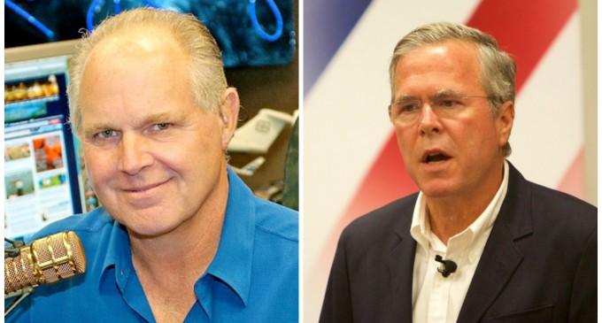 Limbaugh: GOP Establishment Will Make Jeb Bush Party Nominee