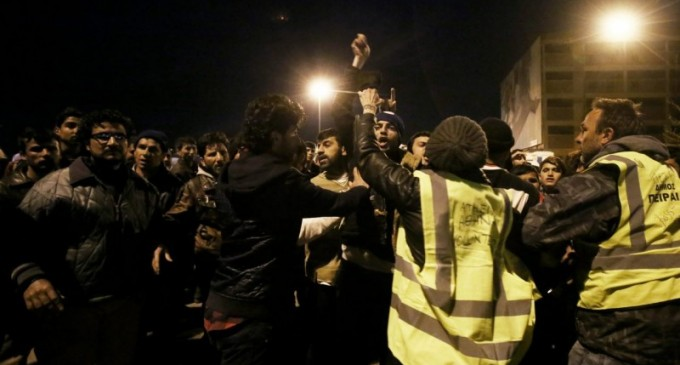Migrants Battle and Riot over Food 24 Hours after Angelina Jolie Visit