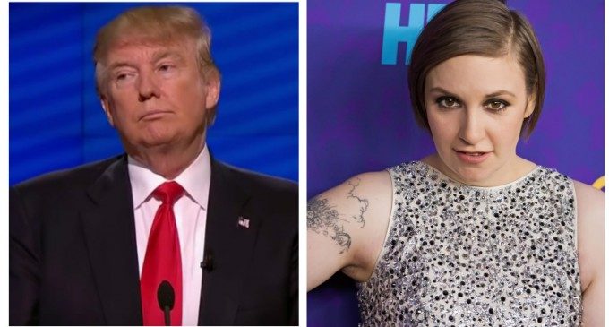 Lena Dunham Joins List of Celebs threatening to Move to Canada if Trump Elected