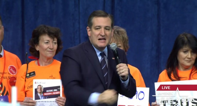 Ted Cruz Considers Restarting his Campaign