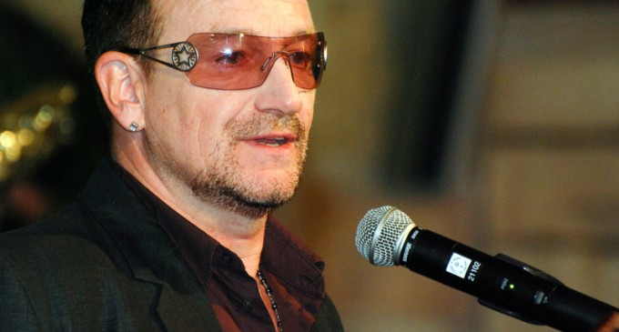 """Bono: """"I know the American taxpayer is really hurting"""", They Should Still Help EU With Migrant Crisis"""