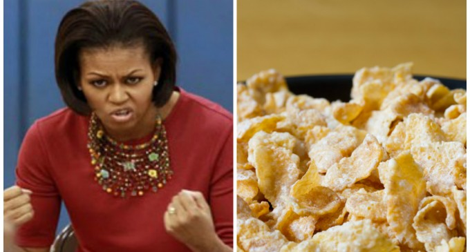 Michelle Obama Bans Frosted Flakes