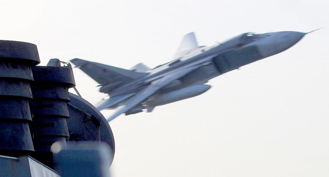 Russian Attack Jet Flies Within 30 Feet of a  U.S. Navy Destroyer Donald Cook