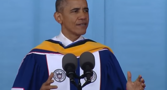 Obama to Black College: Successful People are Nothing but Lucky