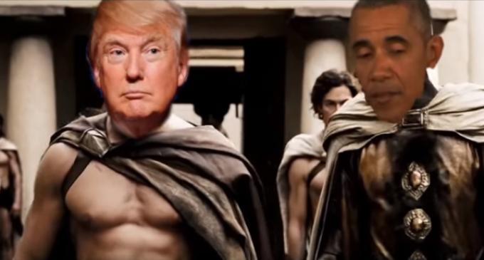 "Donald Trump Leads Spartan Army in 300 Parody, ""Making America Great Again"""