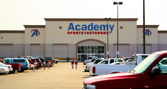 academy sports ammo rifles database shelves outdoors pulling customers employee purchases pulls creating report reportedly setting fired heroically prevents promptly
