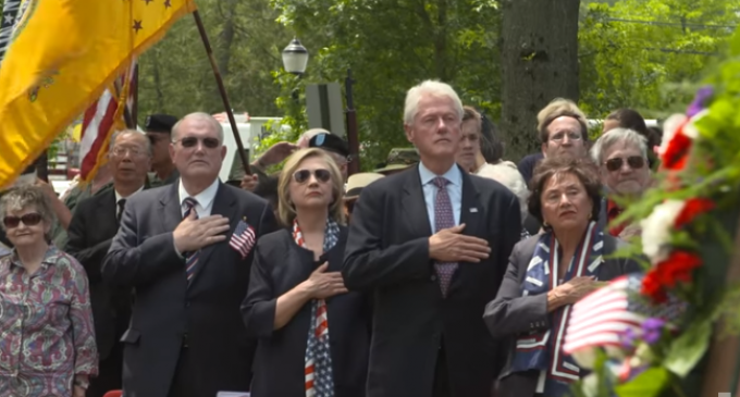 Report Reveals amount Clinton's have Donated to our Veterans