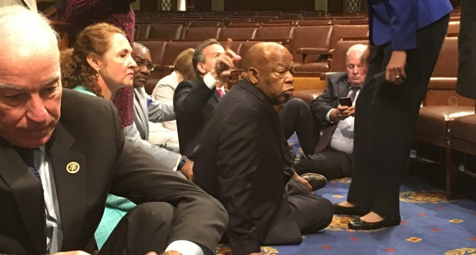 Democrats Stage Sit-in to Demand Action on Gun Control