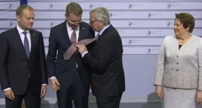 'Drunk' EU Chief Junker Slaps World Leaders at Summit